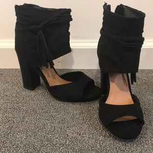 Black Peep Toe Shooties